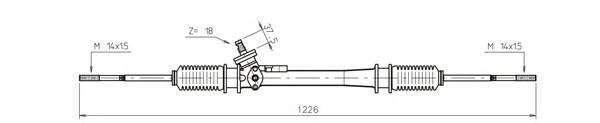 GENERAL RICAMBI WW4037 Рулевой механизм