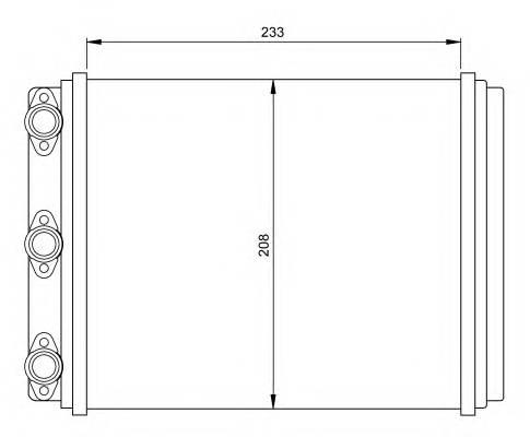 NRF 54249 Теплообменник, отопление с�