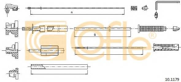 COFLE 10.1179 Трос педалi акселератора