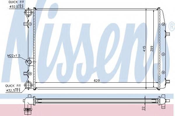 NISSENS 652711 Радиатор, охлаждение двига�
