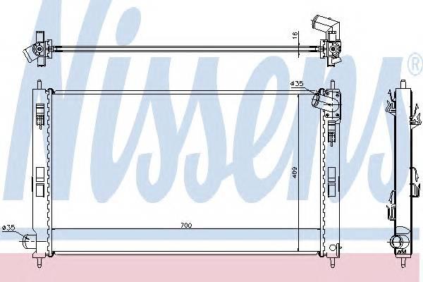 NISSENS 628952 Радиатор, охлаждение двига�