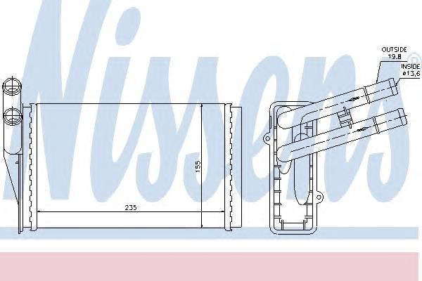 NISSENS 70224 Теплообменник, отопление с�